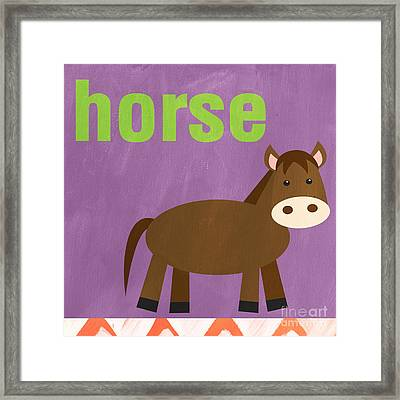 Little Horse Framed Print by Linda Woods