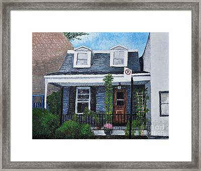 Little House In The City Framed Print by Reb Frost