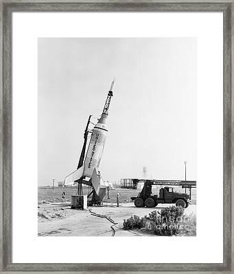 Little Joe On Launcher At Wallops Framed Print by Stocktrek Images