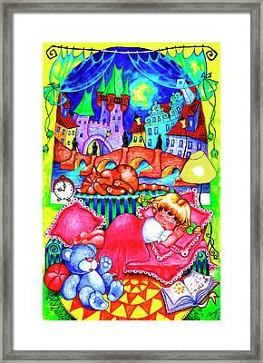 Little Katya Framed Print by Inga Konstantinidou