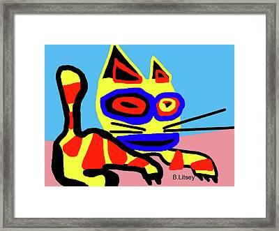 Little Kitty Framed Print by International Artist Brent Litsey