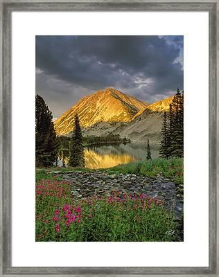 Little Lake Framed Print by Leland D Howard