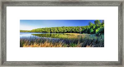 Little Lake On Washington Island Panorama Door County Framed Print by Christopher Arndt