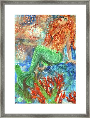 Little Mermaid Framed Print by Jennifer Kelly