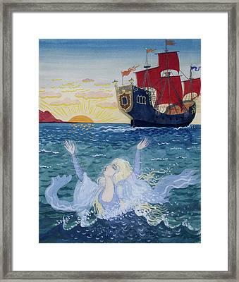 Little Mermaid Framed Print by Lorenz Frolich