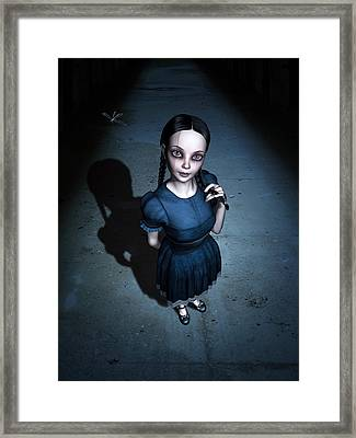 Little Miss Innocent Framed Print by Britta Glodde