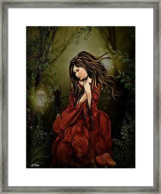 Little Miss Muffet Framed Print by G Berry