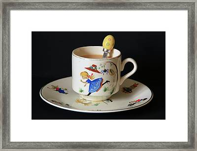 Little Miss Muffet....... Framed Print by Martina Fagan
