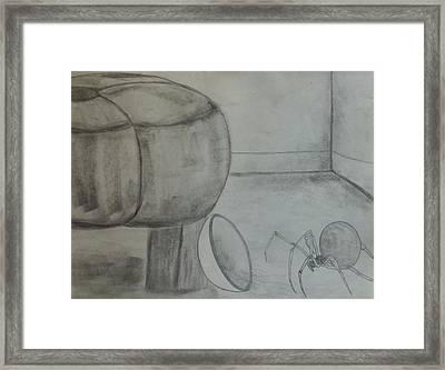 Little Miss Muffet Framed Print by Morgan Carroll