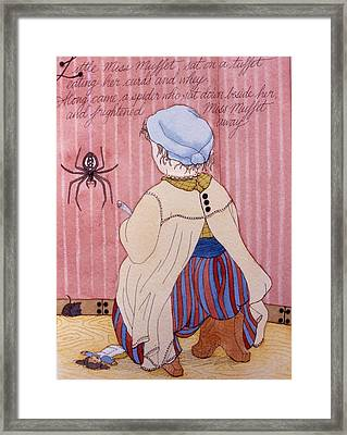 Little Miss Muffet Framed Print by Victoria Heryet