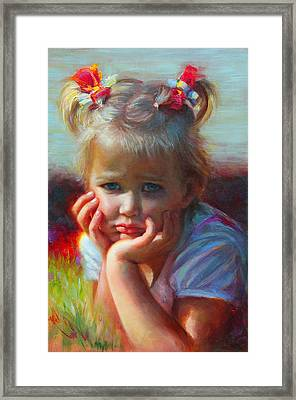Little Miss Sunshine Framed Print by Talya Johnson