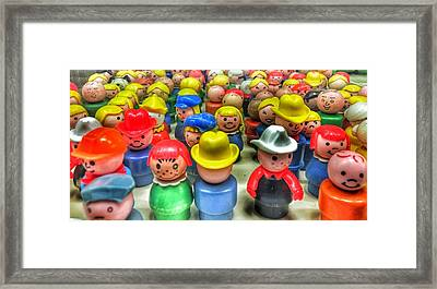 Little People Framed Print by Jame Hayes