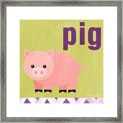 Little Pig Framed Print by Linda Woods