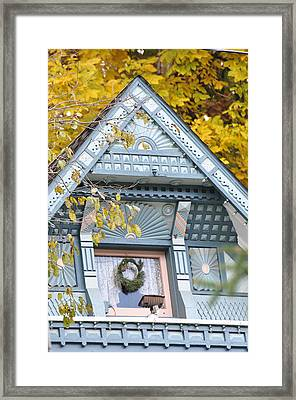 Little Pink Window Framed Print by Jan Amiss Photography