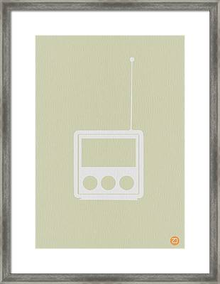 Little Radio Framed Print by Naxart Studio