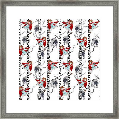 Little Red Riding Hood Framed Print by Beth Travers