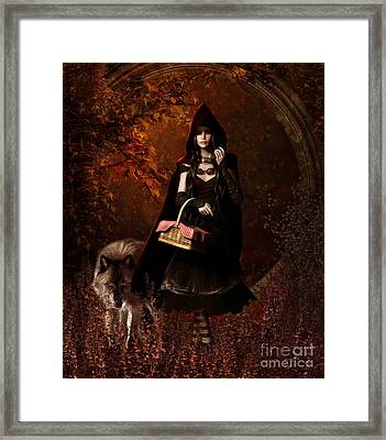 Little Red Riding Hood Gothic Framed Print by Shanina Conway