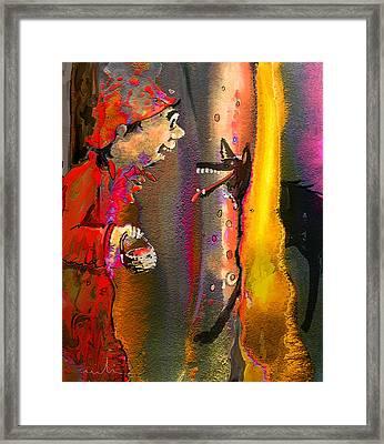 Little Red Riding Hood Framed Print by Miki De Goodaboom