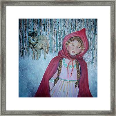 Little Red Riding Hood Framed Print by The Art With A Heart By Charlotte Phillips