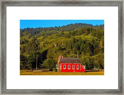 Little Red School House Framed Print by Garry Gay