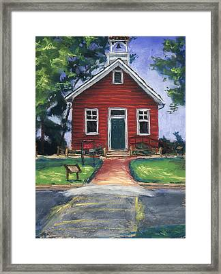Little Red Schoolhouse Nature Center Framed Print by Christine Camp