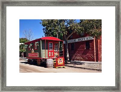 Little Red Wagon Framed Print by Kaye Menner