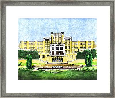 Little Rock Central High School Framed Print by Yang Luo-Branch