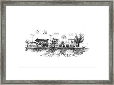 Little Rock South Main Street Framed Print by Yang Luo-Branch