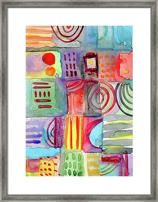 Little Rooms Patchwork 20- Art By Linda Woods Framed Print by Linda Woods