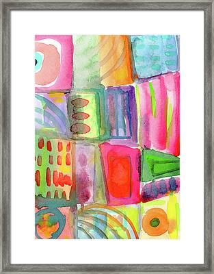 Little Rooms Patchwork 21- Art By Linda Woods Framed Print by Linda Woods