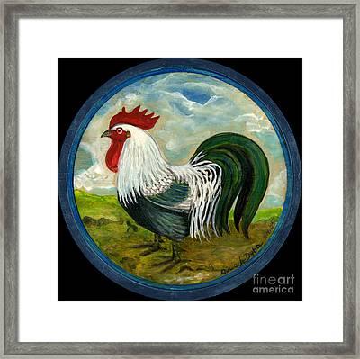 Little Rooster Framed Print by Anna Folkartanna Maciejewska-Dyba
