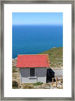 Little Shack At The Point Reyes Lighthouse In California . 7d16020 Framed Print by Wingsdomain Art and Photography