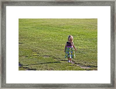 Little Steps Framed Print by Evelina Kremsdorf