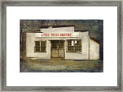 Little Texas Grocery Framed Print by Bellesouth Studio