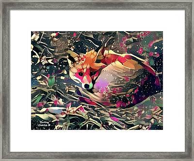 Little Vixen Framed Print by Bunny Clarke
