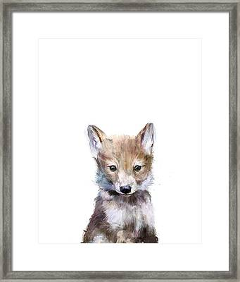 Little Wolf Framed Print by Amy Hamilton