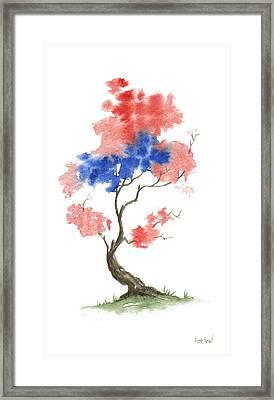 Little Zen Tree 291 Framed Print by Sean Seal