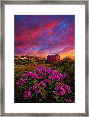 Live In The Moment Framed Print by Phil Koch
