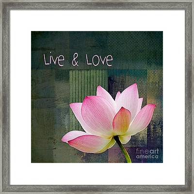 Live N Love - - 0333-15a Framed Print by Variance Collections