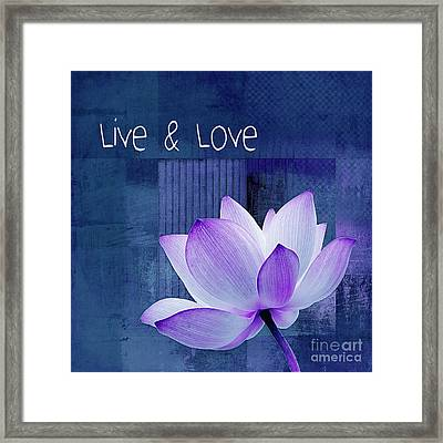Live N Love - 123 Framed Print by Variance Collections