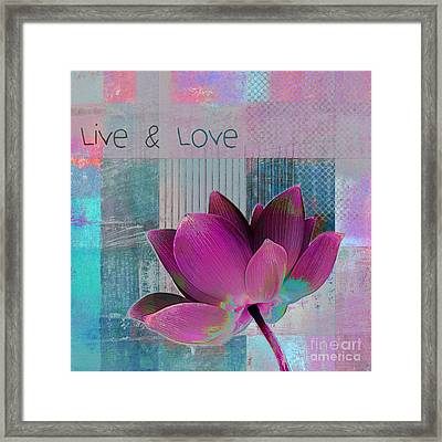 Live N Love - 89cc Framed Print by Variance Collections