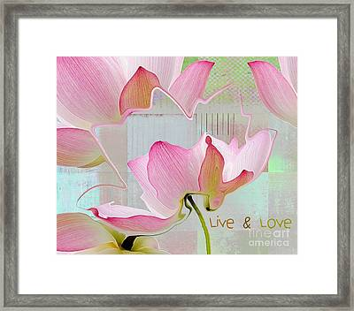 Live N Love - Absfl23b Framed Print by Variance Collections