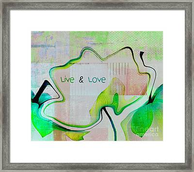 Live N Love - Absfl9tc2 Framed Print by Variance Collections
