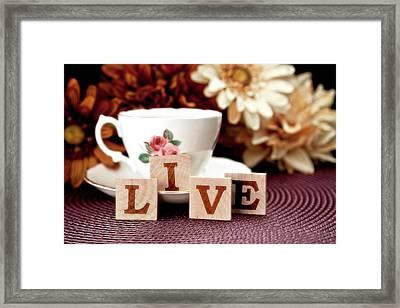 Live Framed Print by Tom Mc Nemar