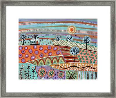 Lively Landscape Framed Print by Karla Gerard