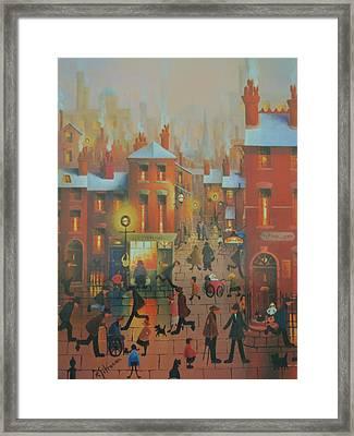 Liverpool Street Scene.the Doctors Surgery Framed Print by Raymond Alfred Gilronan