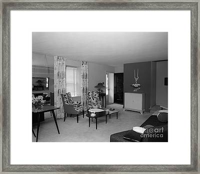 Living Room Interior, C.1950s Framed Print by H. Armstrong Roberts/ClassicStock