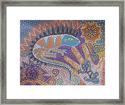 Lizard Dreaming Framed Print by Vijay Sharon Govender