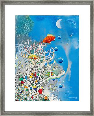 Liza's Reef Framed Print by Lee Pantas