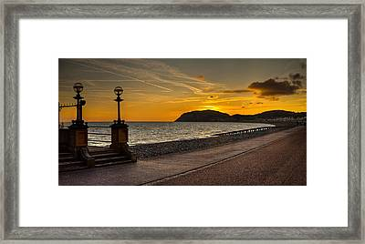 Llandudno Promenade And Little Orme Framed Print by Peter OReilly